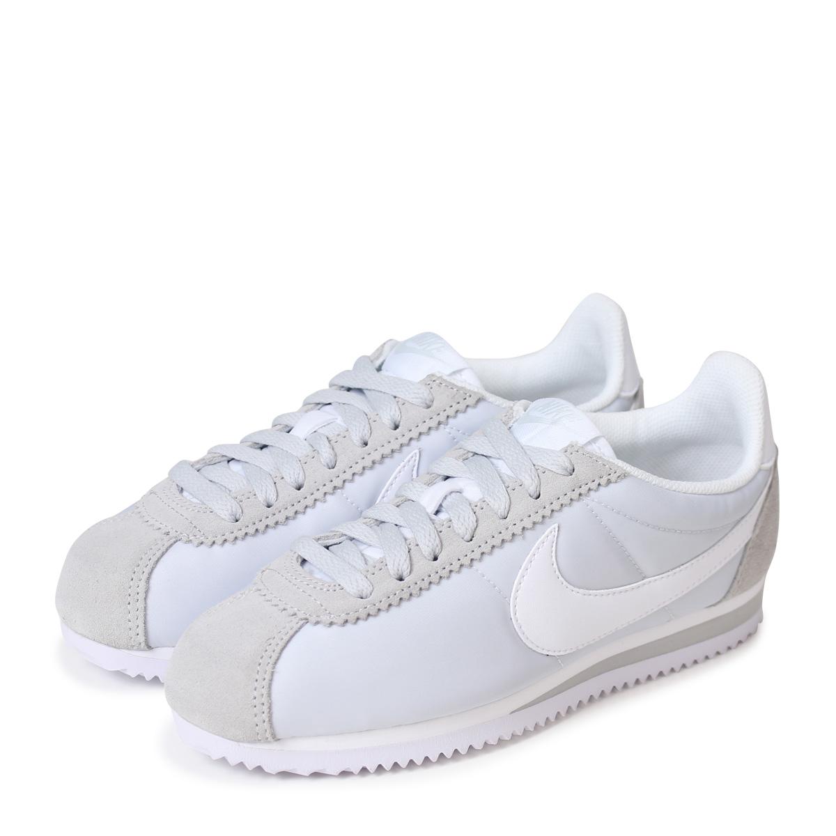 Nike NIKE コルテッツクラシックレディーススニーカー WMNS CLASSIC CORTEZ NYLON 749,864 010 white white [195]