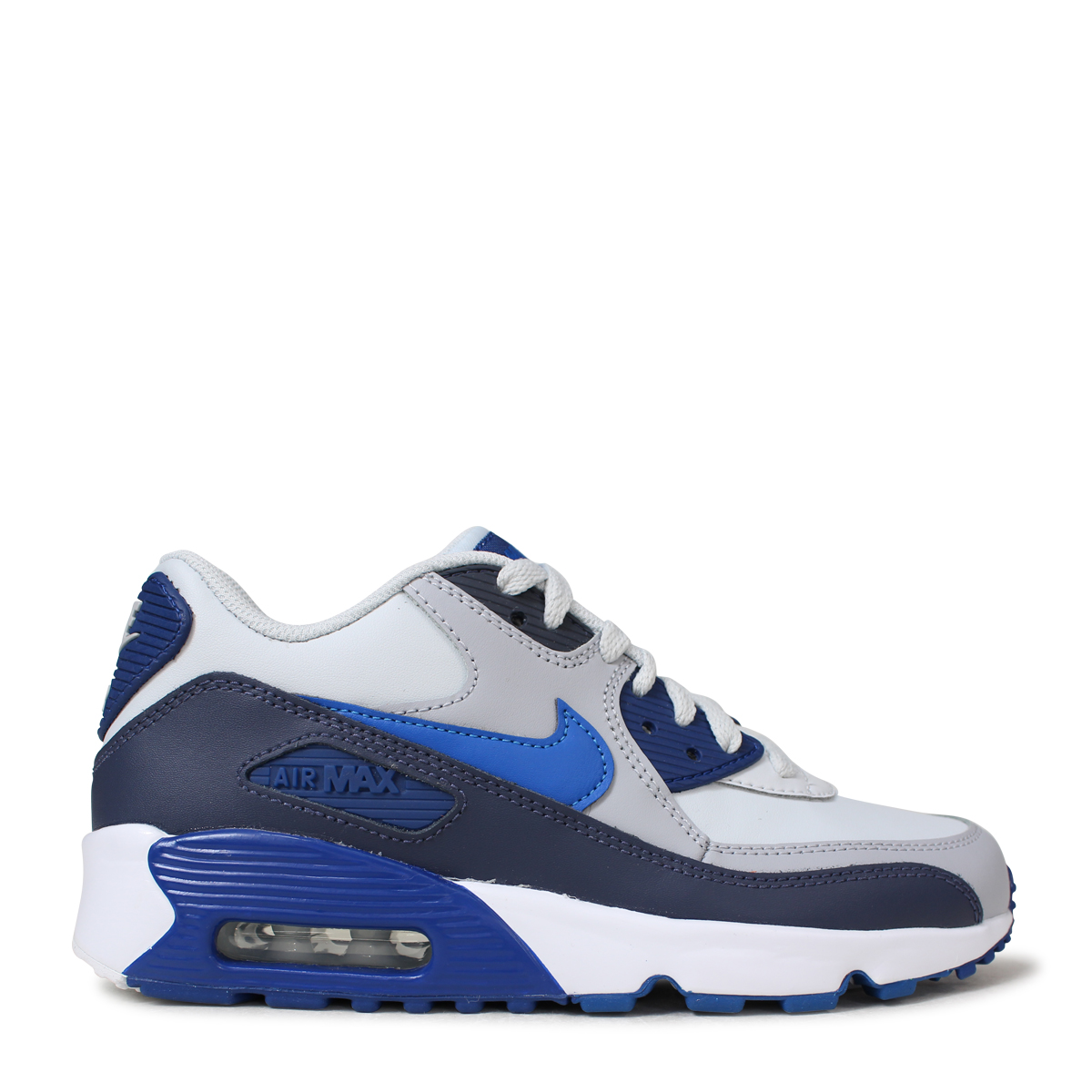 NIKE AIR MAX 90 LEATHER GS Kie Ney AMAX 90 Lady's sneakers 833,412 407 blue [512 Shinnyu load] [185]