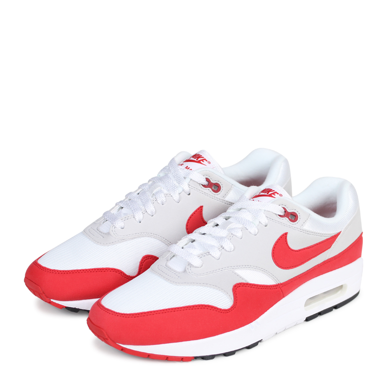 size 40 d0d77 a97da NIKE AIR MAX 1 ANNIVERSARY Kie Ney AMAX 1 anniversary sneakers 908,375-103  mens red load planned Shinnyu load in reservation product 29 containing  182