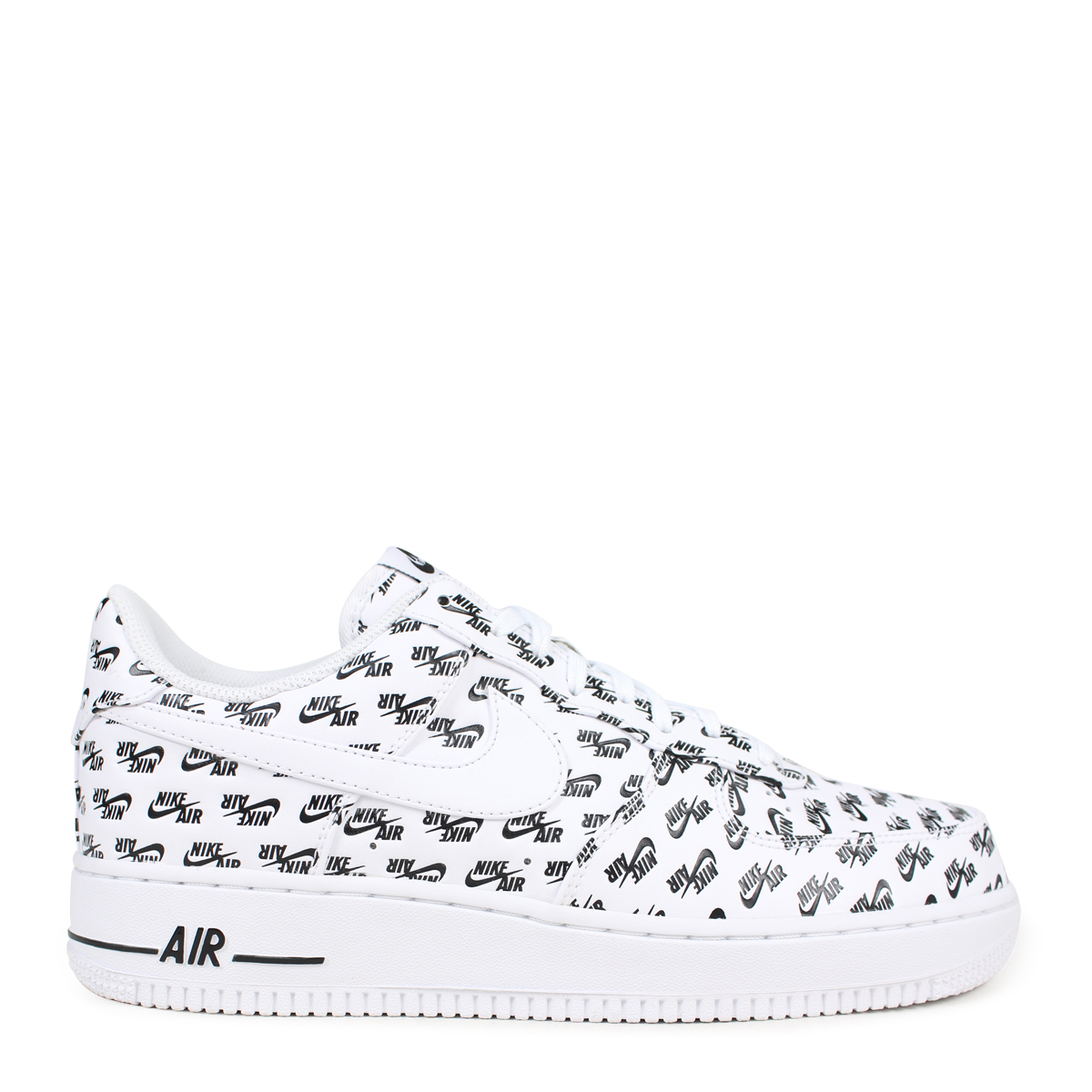 NIKE AIR FORCE 1 QS ALL OVER LOGO Nike air force 1 07 sneakers men  AH8462-100 white [load planned Shinnyu load in reservation product 3/15  containing] [183]