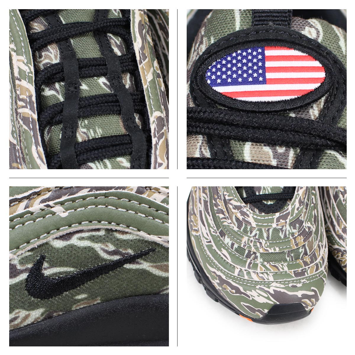 new product 89f74 8c875 NIKE AIR MAX 97 QS COUNTRY CAMO PACK Kie Ney AMAX 97 sneakers men AJ2614-205  duck  load planned Shinnyu load in reservation product 3 22 containing   183