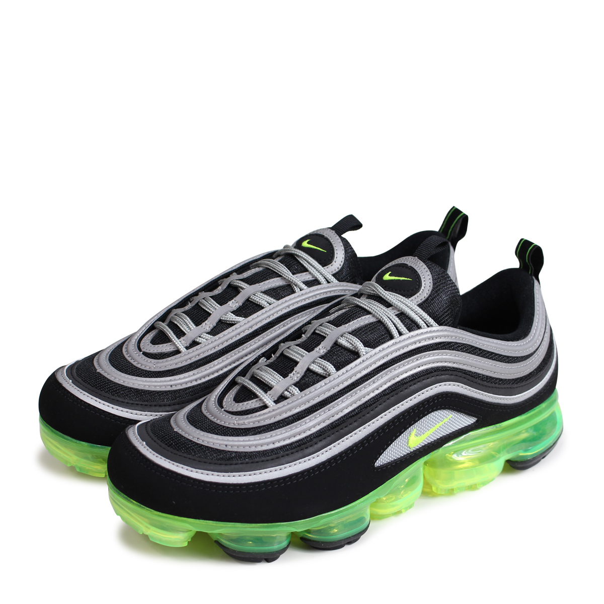 wholesale dealer 278eb 600b9 NIKE AIR VAPORMAX 97 Nike air vapor max 97 sneakers men AJ7291-001 neon  yellow [load planned Shinnyu load in reservation product 5/31 containing]  ...