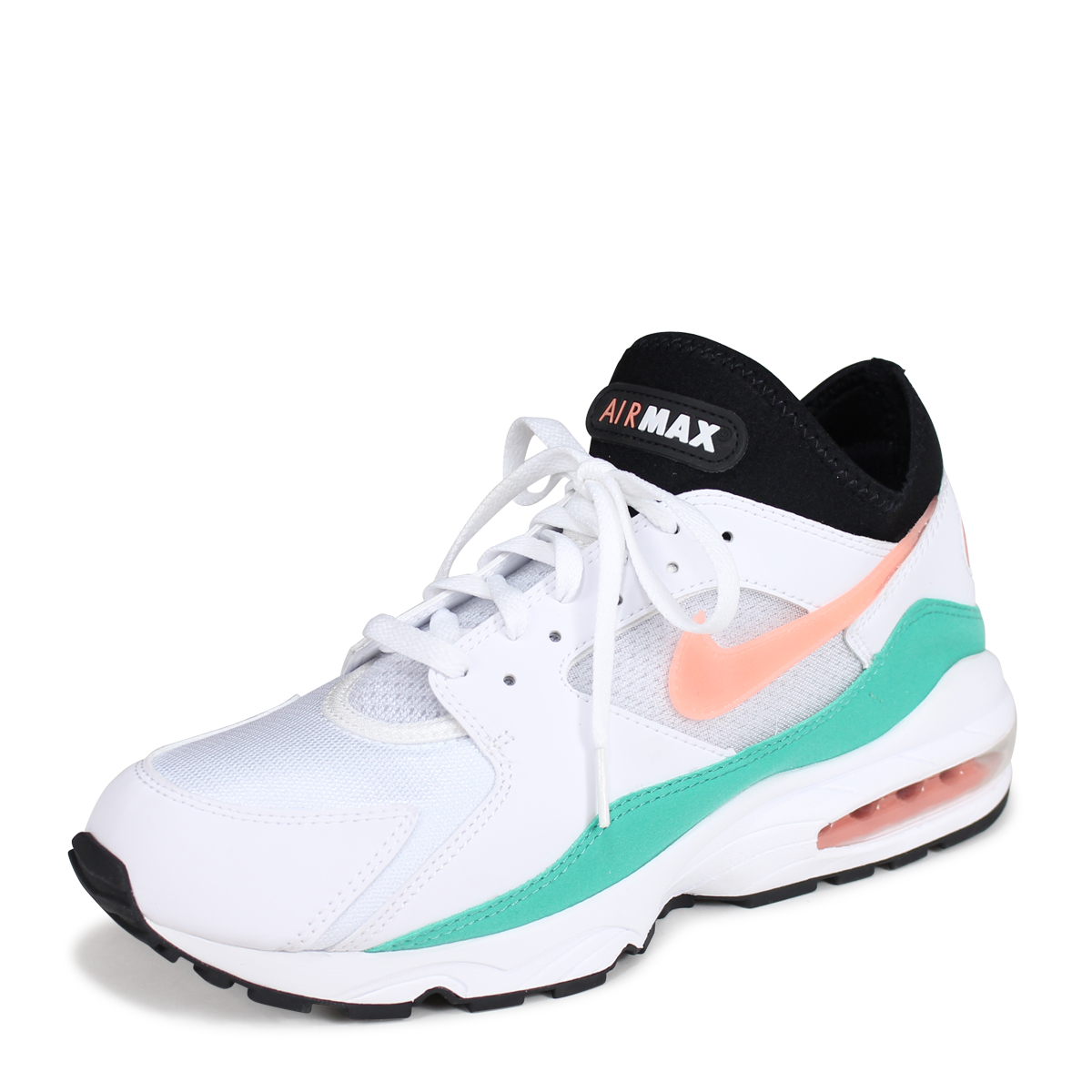 pretty nice 7e992 f31bf NIKE AIR MAX 93 WATERMELON Kie Ney AMAX 93 sneakers men 306,551-105 white  load planned Shinnyu load in reservation product 719 containing 187