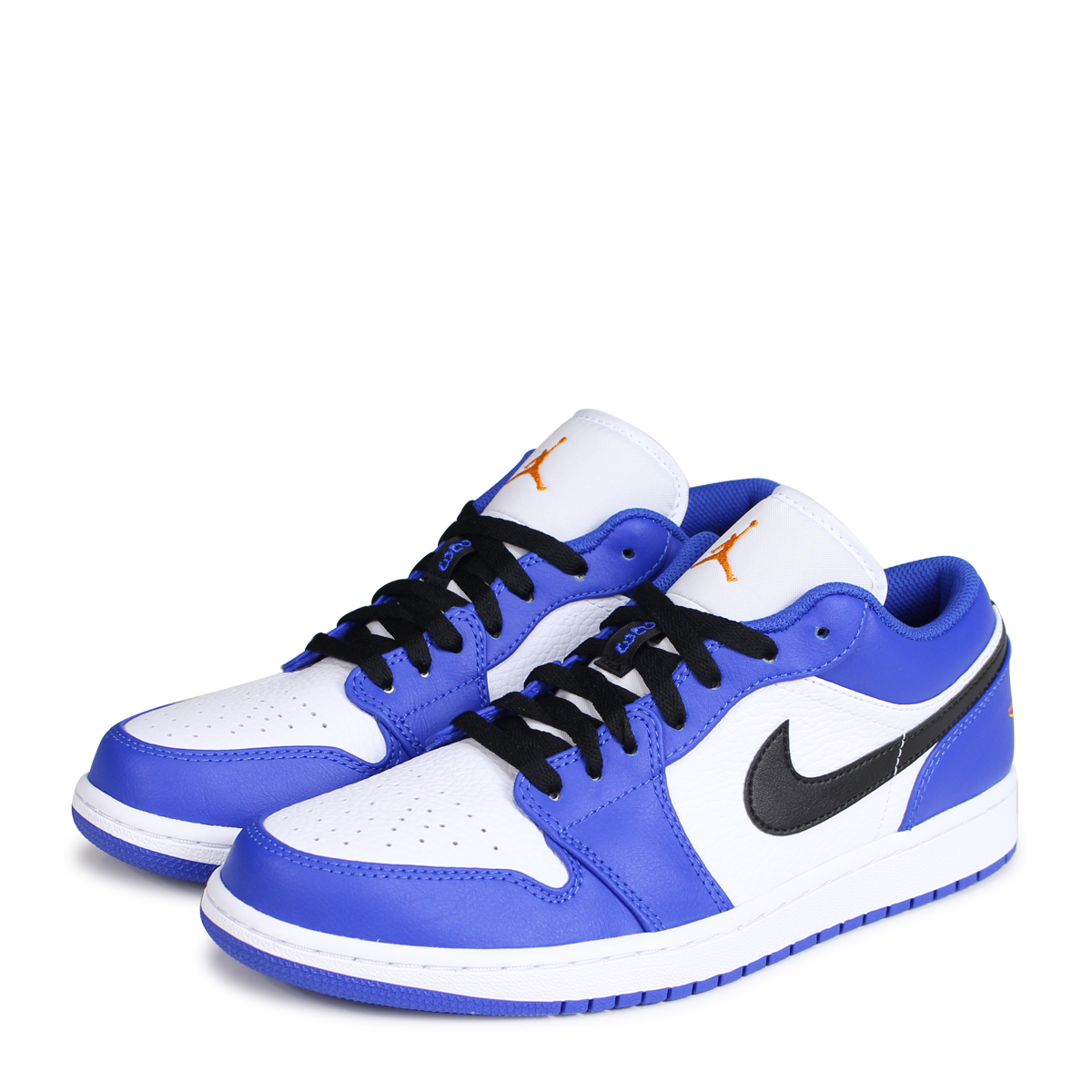uk availability 62b7e 11ccb NIKE AIR JORDAN 1 LOW Nike Air Jordan 1 sneakers men 553,558-401 blue [load  planned Shinnyu load in reservation product 7/7 containing] [187]
