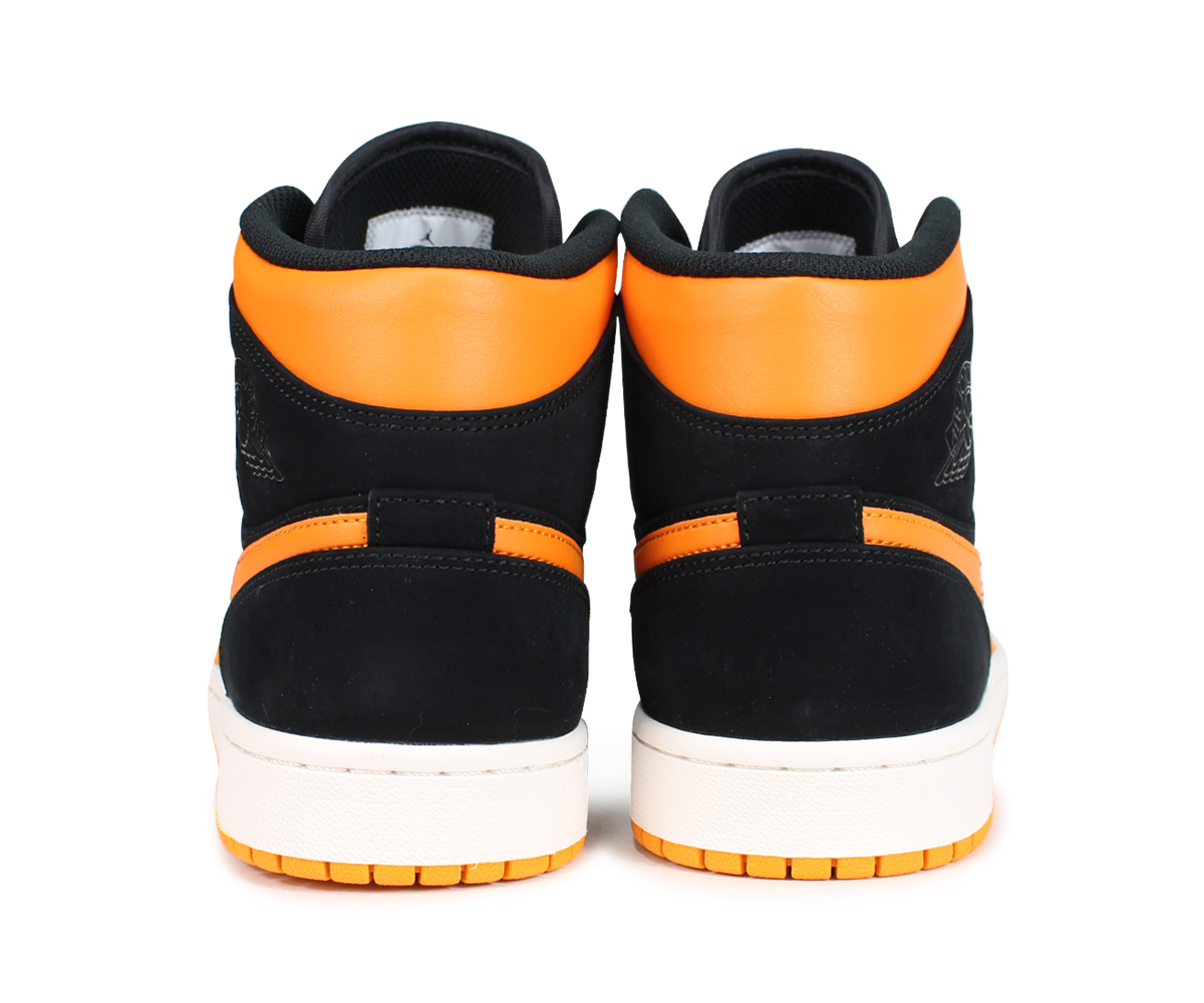 new style ec2ef 32fd9 An NIKE AIR JORDAN 1 MID Nike Air Jordan 1 sneakers men 554,724-081 orange   load planned Shinnyu load in reservation product 8 3 containing   187