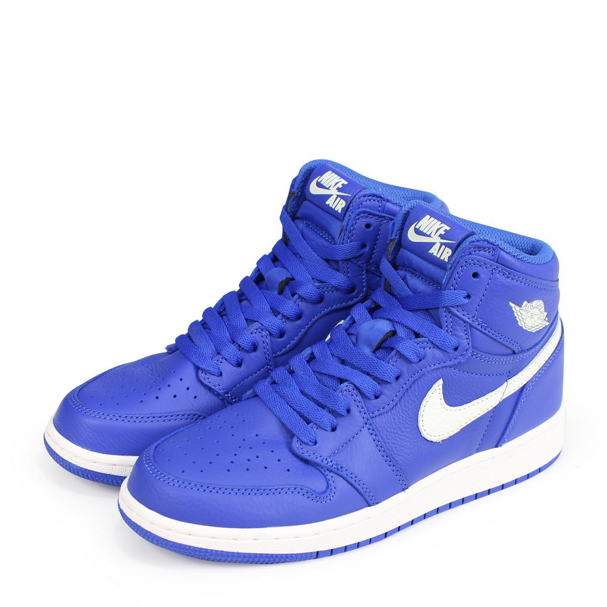 hot sale online 0b269 abec6 NIKE AIR JORDAN 1 RETRO HIGH OG BG Nike Air Jordan 1 nostalgic Haile Dis  sneakers 575,441-401 blue  load planned Shinnyu load in reservation product  8 18 ...