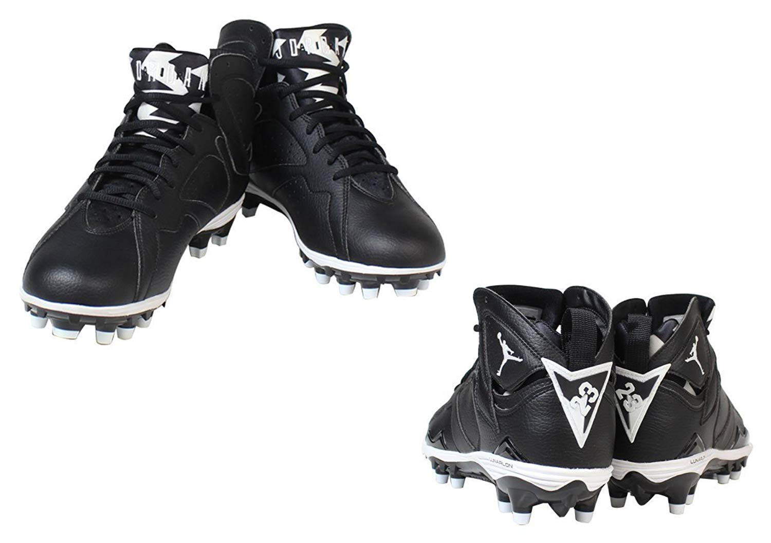 980a58728039 ebay eap sale nike mens air jordan retro 7 td football cleats black white  under discount 46058 e5cfb  denmark nike air jordan 7 retro td nike air  jordan 7 ...
