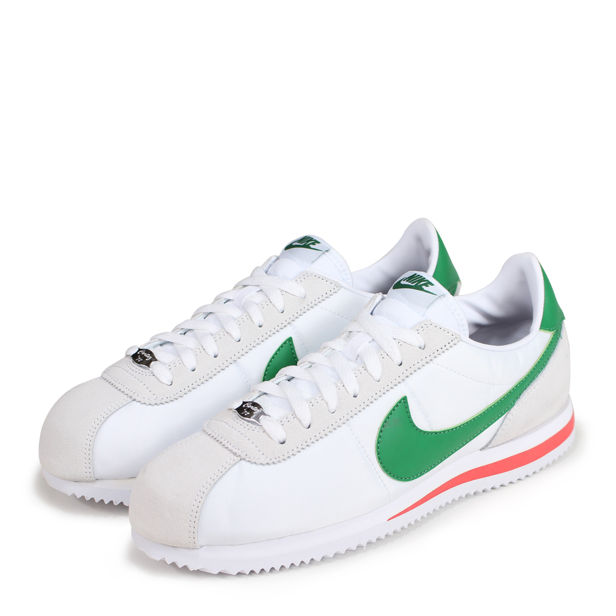 design de qualité f0994 6ee62 NIKE CORTEZ BASIC NYLON ナイキコルテッツスニーカーメンズ 819,720-103 white [load planned  Shinnyu load in reservation product 7/19 containing] [187]