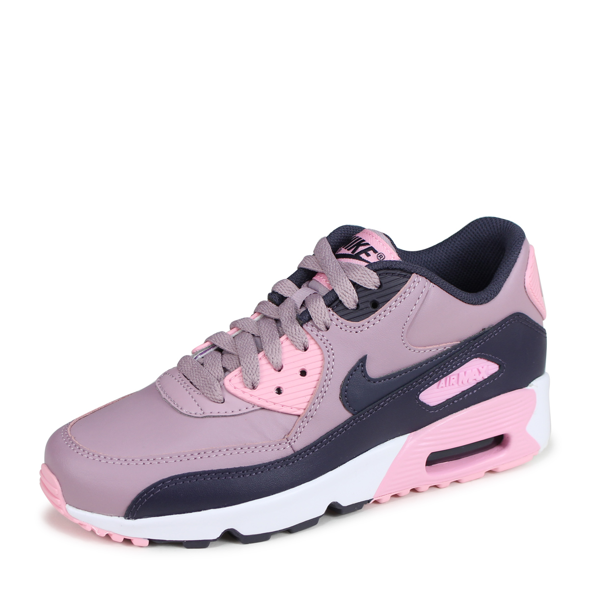 NIKE AIR MAX 90 LEATHER GS Kie Ney AMAX 90 Lady's sneakers 833,376 602 pink [load planned Shinnyu load in reservation product 720 containing] [187]