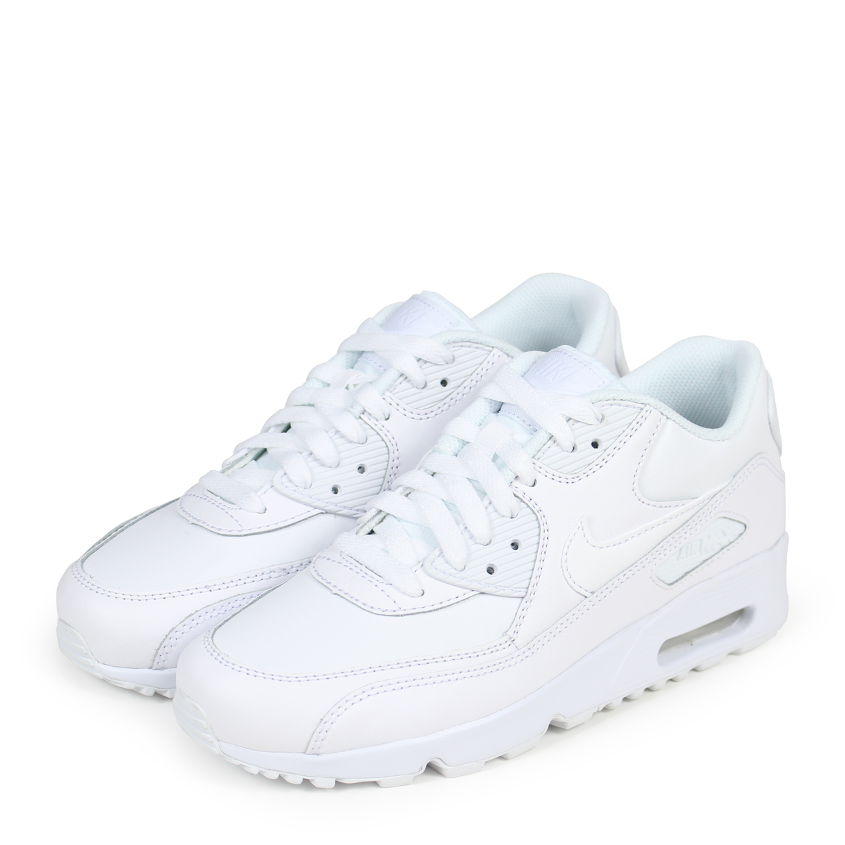 Damen Schuhe sneakers Nike Air Max 90 (GS) 833412 100 | WEIβ