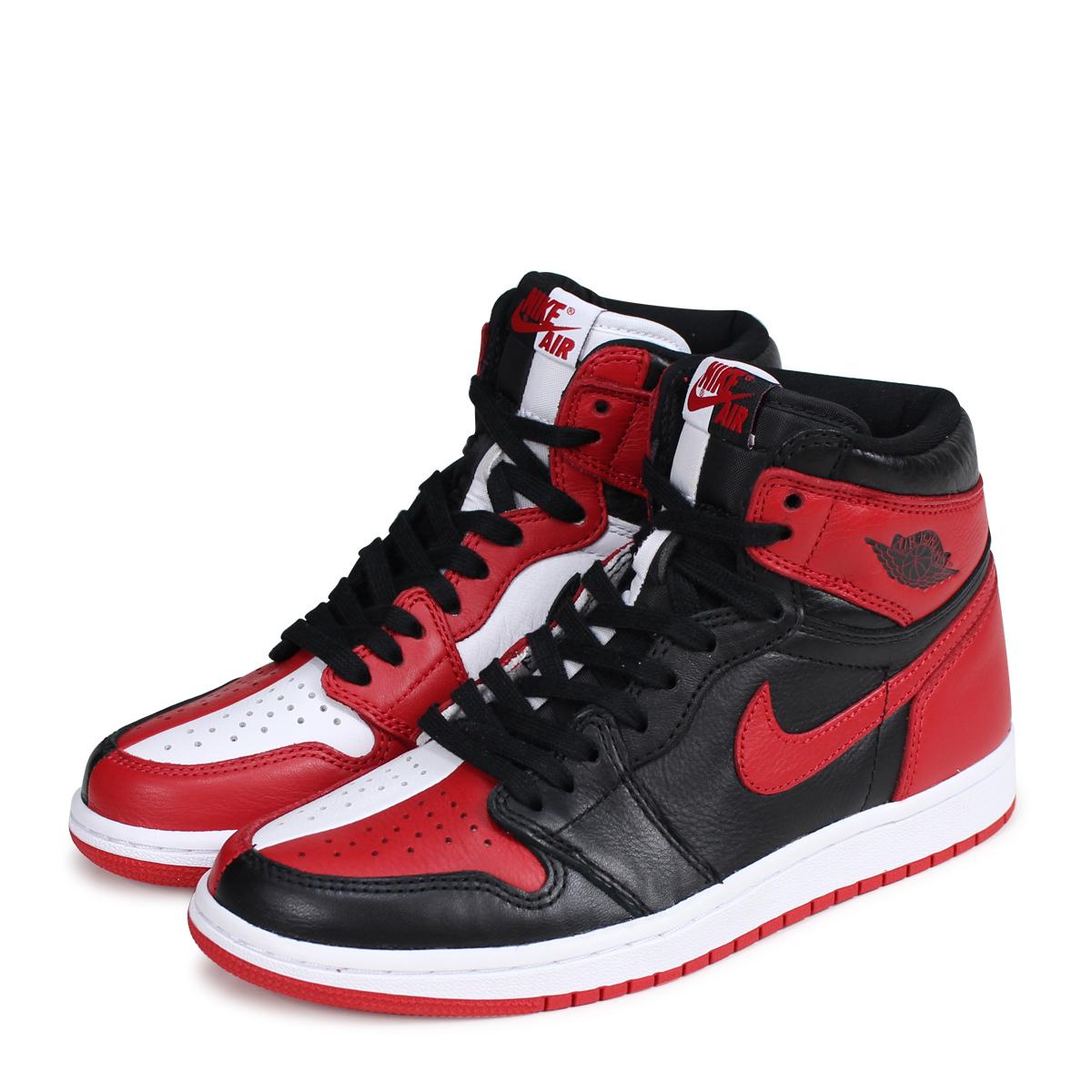 designer fashion 0ed35 5504a NIKE AIR JORDAN 1 RETRO HIGH OG HOMAGE TO HOME Nike Air Jordan 1 nostalgic  Haile Dis sneakers 861,428-061 red  load planned Shinnyu load in  reservation ...