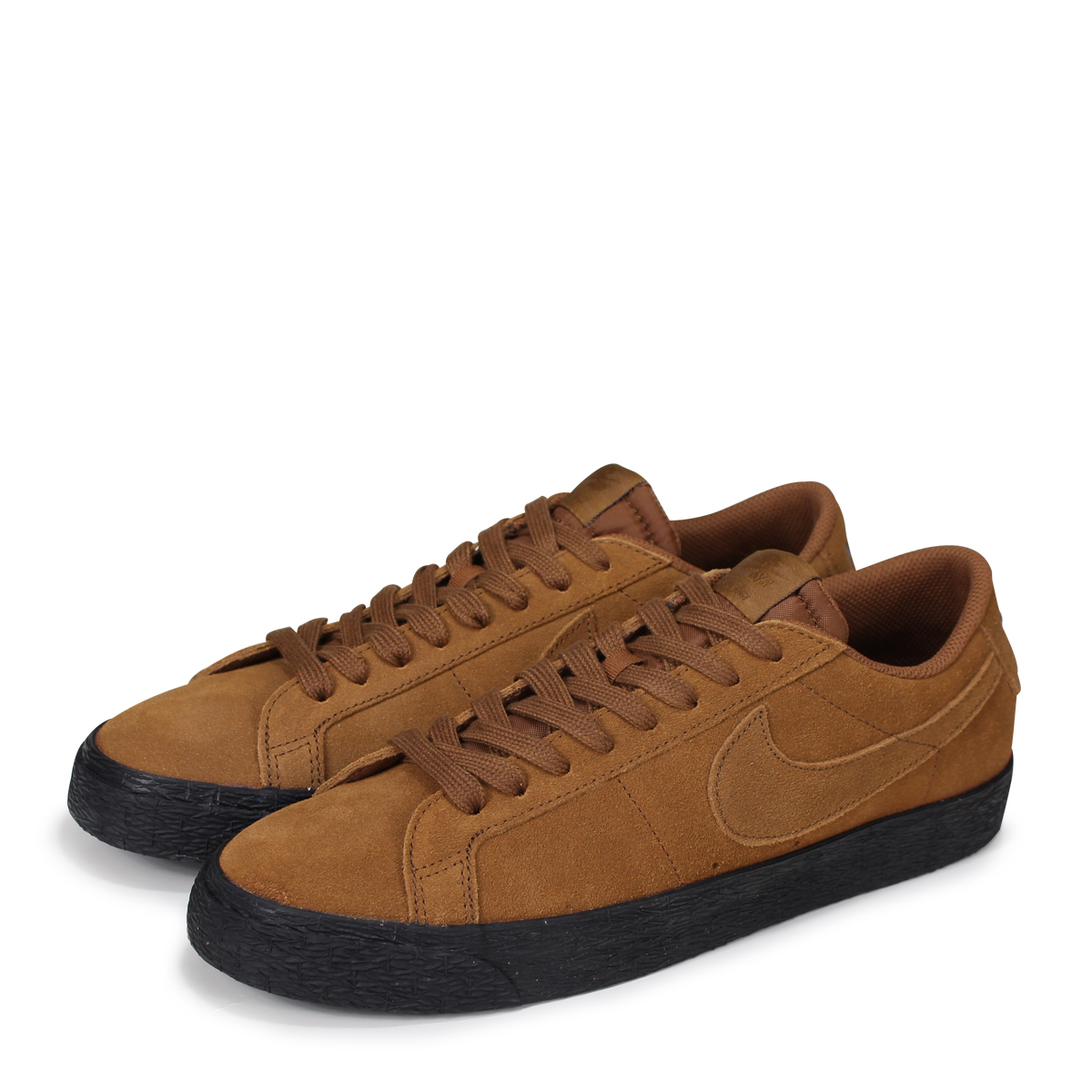 finest selection 59d29 d97d9 NIKE SB ZOOM BLAZER LOW Nike blazer low sneakers men 864,347-200 brown  [7/13 Shinnyu load] [187]