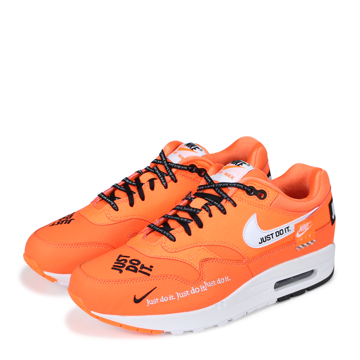reputable site bfa56 bf0c8 Nike NIKE Air Max 1 lady's men's sneakers WMNS AIR MAX 1 LX 917,691-800  orange [195]