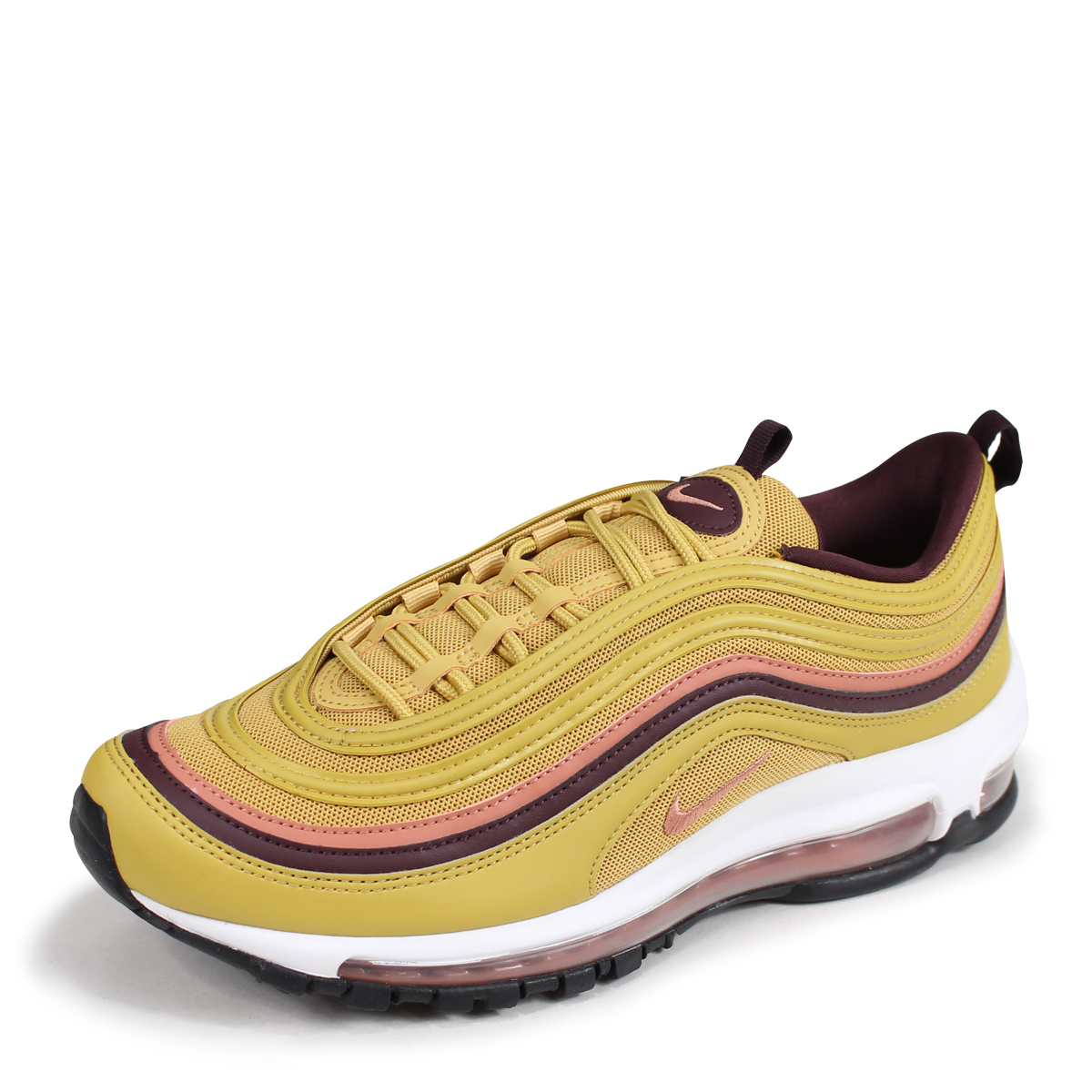 NIKE WMNS AIR MAX 97 Kie Ney AMAX 97 lady's men's sneakers 921,733 700 gold [188]