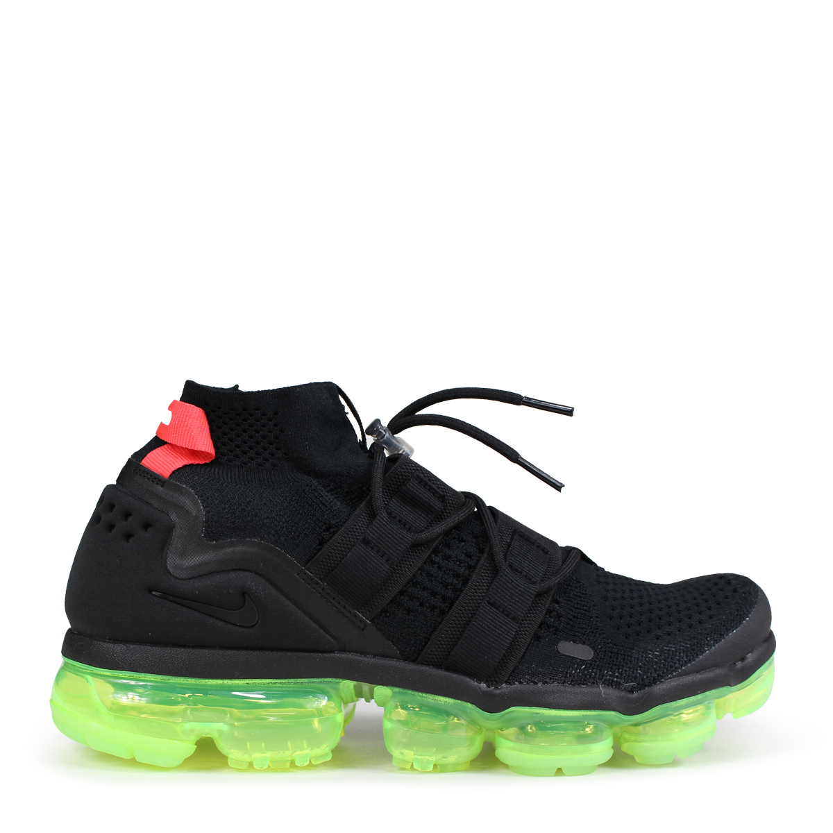 newest a885a 56d9e NIKE AIR VAPORMAX FLYKNIT UTILITY Nike air vapor max fried food knit  sneakers men AH6834-007 black [load planned Shinnyu load in reservation  product ...