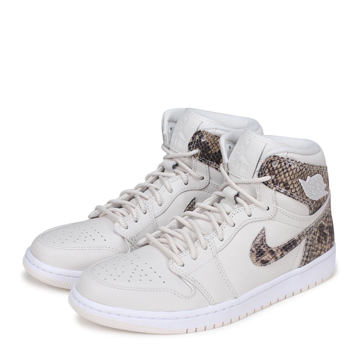 NIKE WMNS AIR JORDAN 1 RETRO HIGH PREMIUM Nike Air Jordan 1 nostalgic Haile  Dis men sneakers AH7389-004 white  load planned Shinnyu load in reservation  ... 7cba8cec0