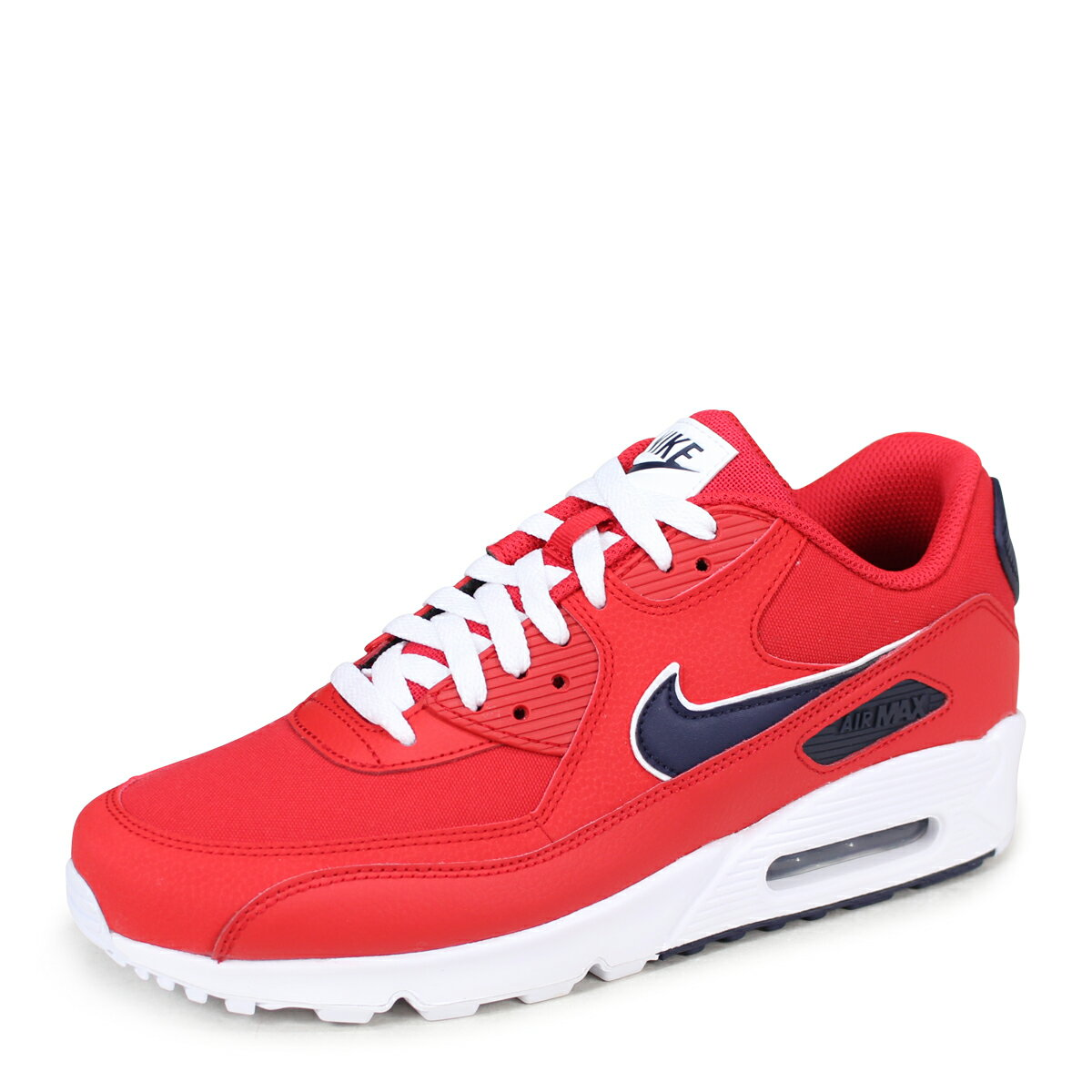 36cdb234794 NIKE AIR MAX 90 ESSENTIAL Kie Ney AMAX 90 essential sneakers men AJ1285-601  red  load planned Shinnyu load in reservation product 6 28 containing   186