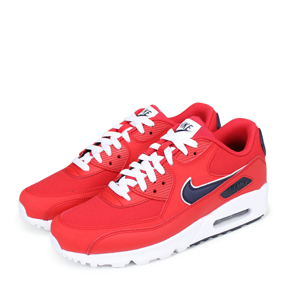 best sneakers 1530f 15077 NIKE AIR MAX 90 ESSENTIAL Kie Ney AMAX 90 essential sneakers men AJ1285-601  red  load planned Shinnyu load in reservation product 6 28 containing   186