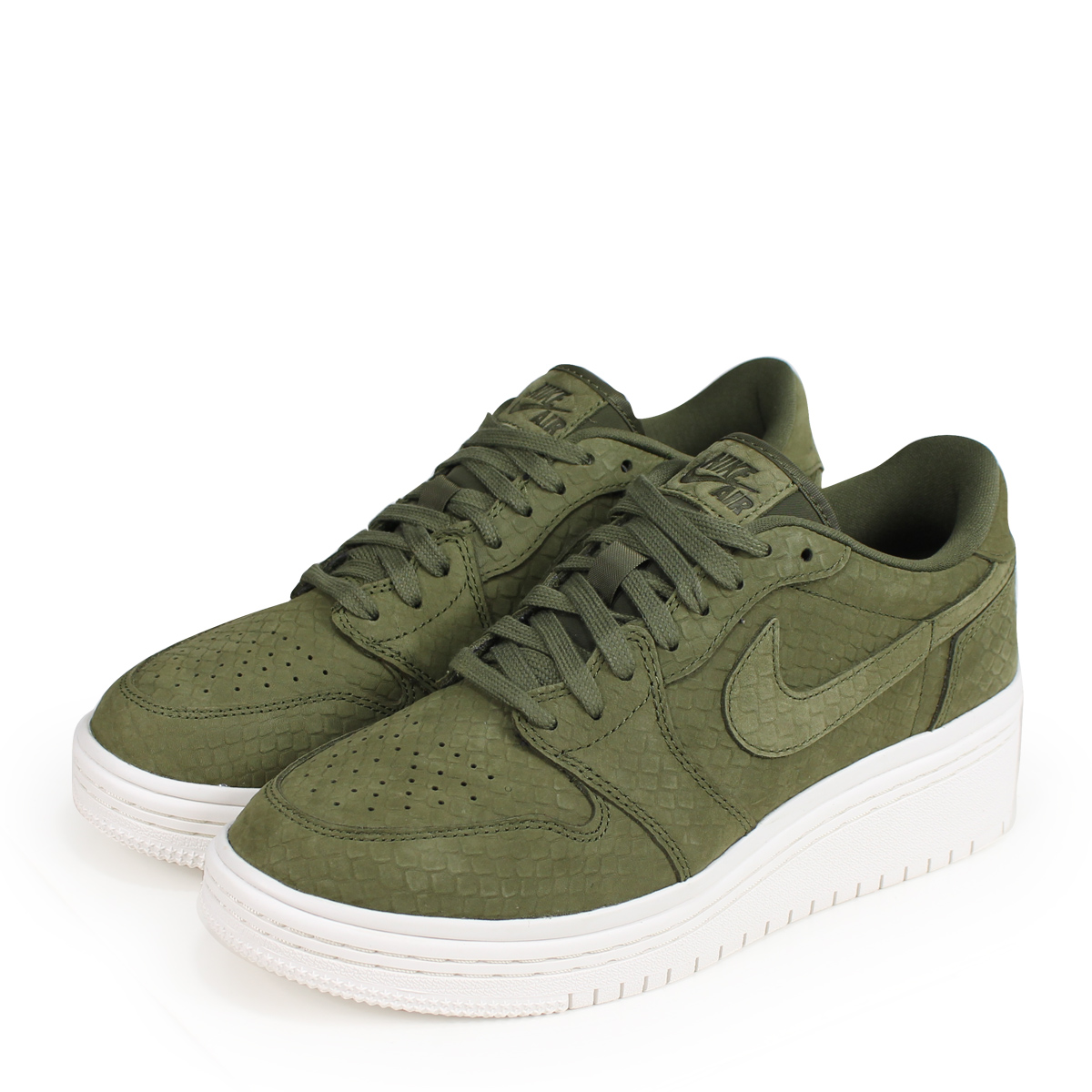 best authentic d7909 bc8b8 NIKE WMNS AIR JORDAN 1 RETRO LOW LIFTED Nike Air Jordan 1 nostalgic lady s  men sneakers AO1334-300 olive  load planned Shinnyu load in reservation  product ...