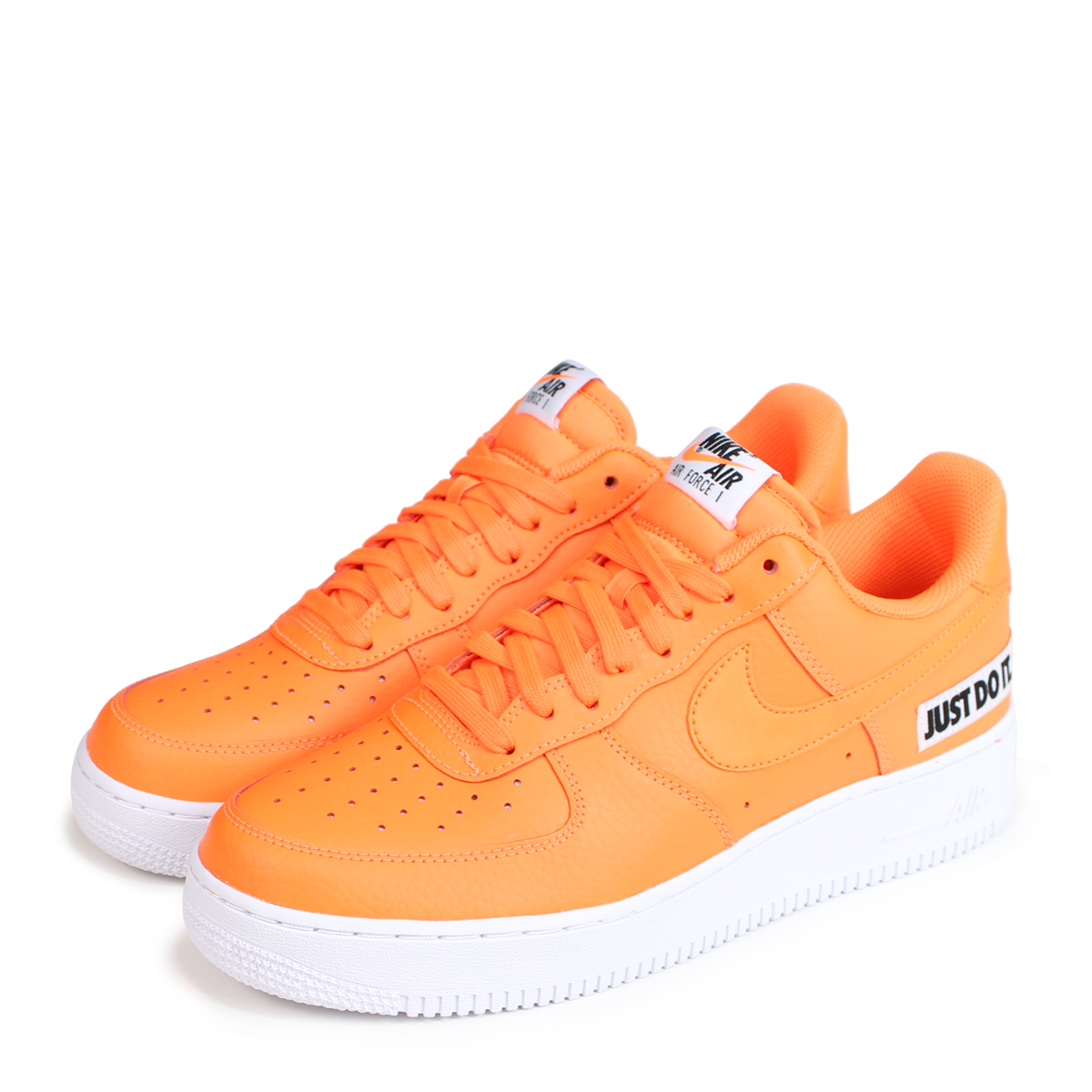 93eedff9ee91 NIKE AIR FORCE 1 07 LV8 JUST DO IT LEATHER Nike air force 1 sneakers men  gap Dis BQ5360-800 orange  load planned Shinnyu load in reservation product  7 24 ...