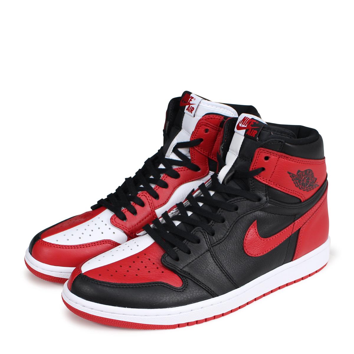 cheaper d0a3b 50a7d NIKE AIR JORDAN 1 RETRO HIGH OG HOMAGE TO HOME Nike Air Jordan 1 nostalgic  high men gap Dis sneakers 861,428-061 red [9/6 Shinnyu load] [189]