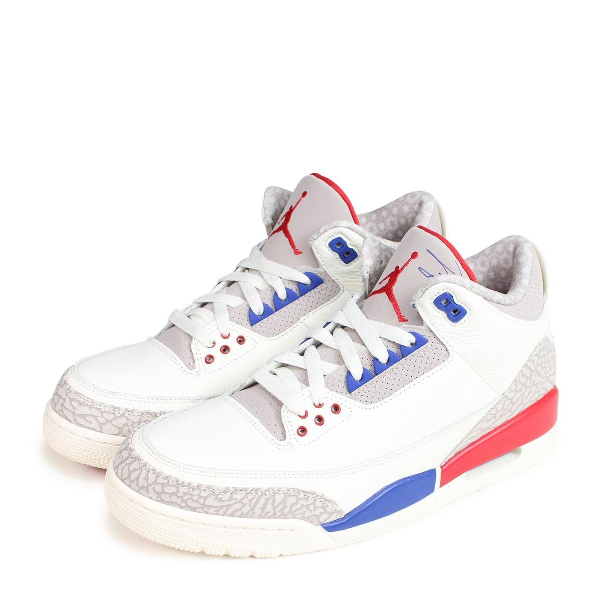 wholesale dealer 2ff03 81223 Nike NIKE Air Jordan 3 nostalgic sneakers men AIR JORDAN 3 RETRO 36,064-140  white [189]