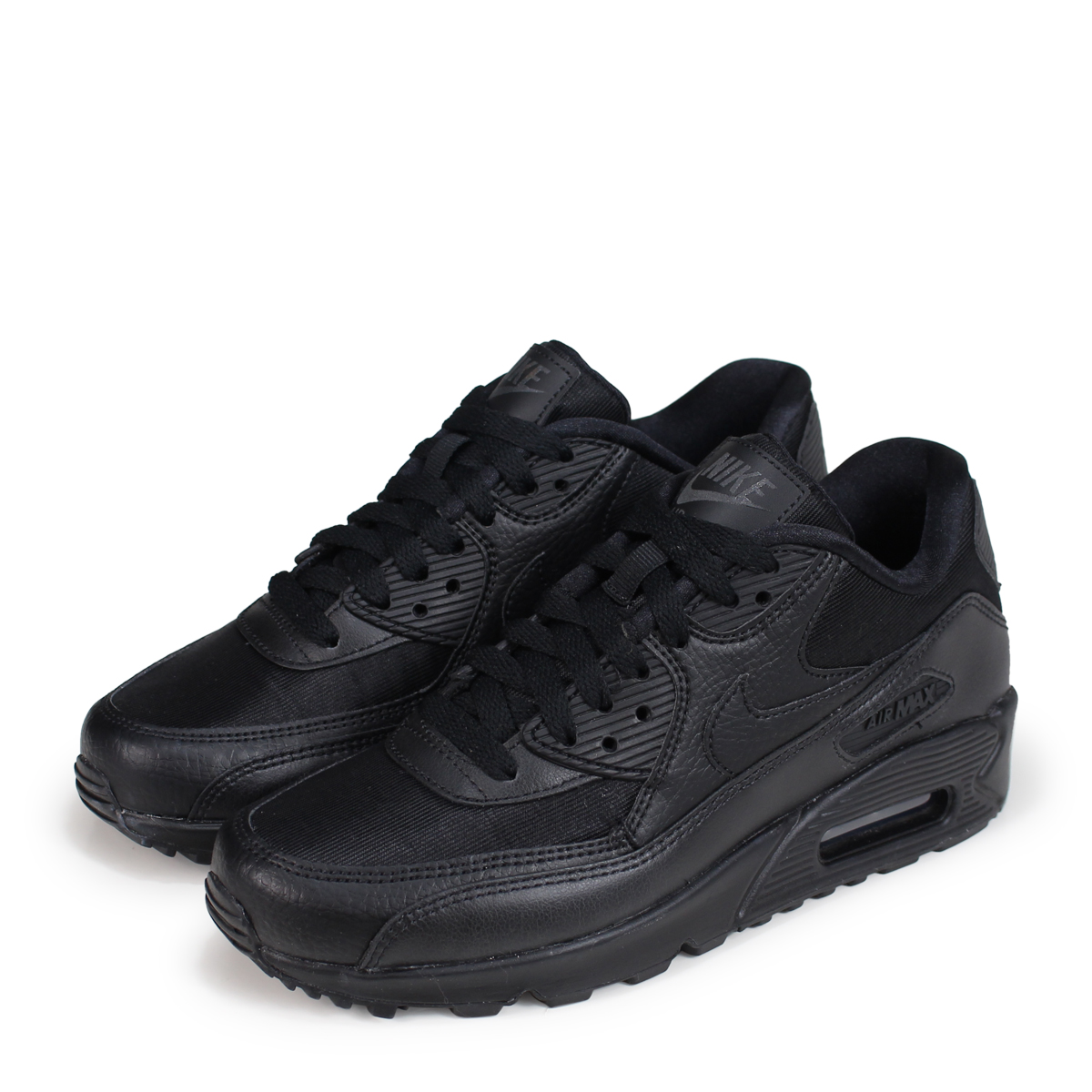 NIKE WMNS AIR MAX 90 Kie Ney AMAX 90 Lady's sneakers 325,213 057 black
