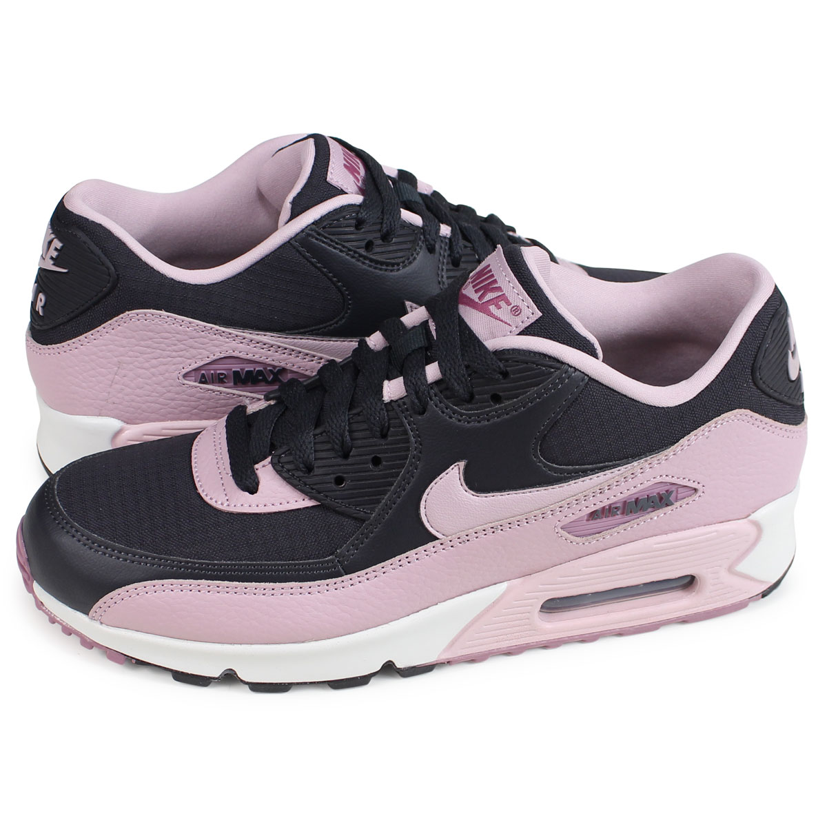 Nike Kids Air Max 90 BR GS, PINK BLASTGAMMA BLUE BLACK, Youth Size 6