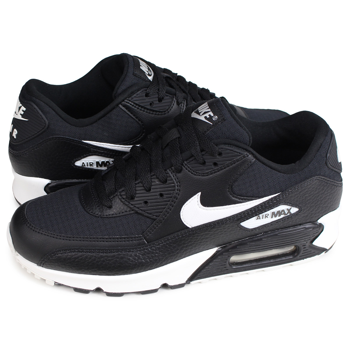 quite nice 098dd 5dc2e Nike NIKE Air Max 90 sneakers Lady's men WMNS AIR MAX 90 black black  325,213-060 [the 9/13 additional arrival] [199]