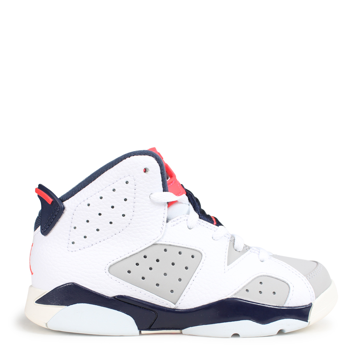 hot sale online 15958 ad563 NIKE AIR JORDAN 6 RETRO PS TINKER Nike Air Jordan 6 nostalgic kids sneakers  384,666-104 white [load planned Shinnyu load in reservation product 10/22  ...