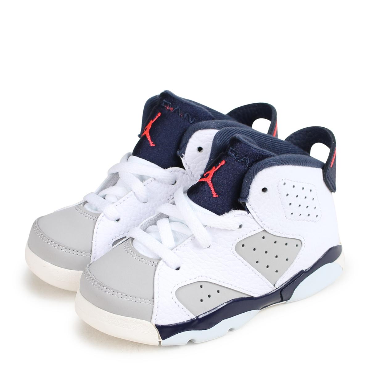 pretty nice d647e 4fd2a NIKE AIR JORDAN 6 RETRO TD TINKER Nike Air Jordan 6 nostalgic baby sneakers  384,667-104 white [load planned Shinnyu load in reservation product 10/22  ...
