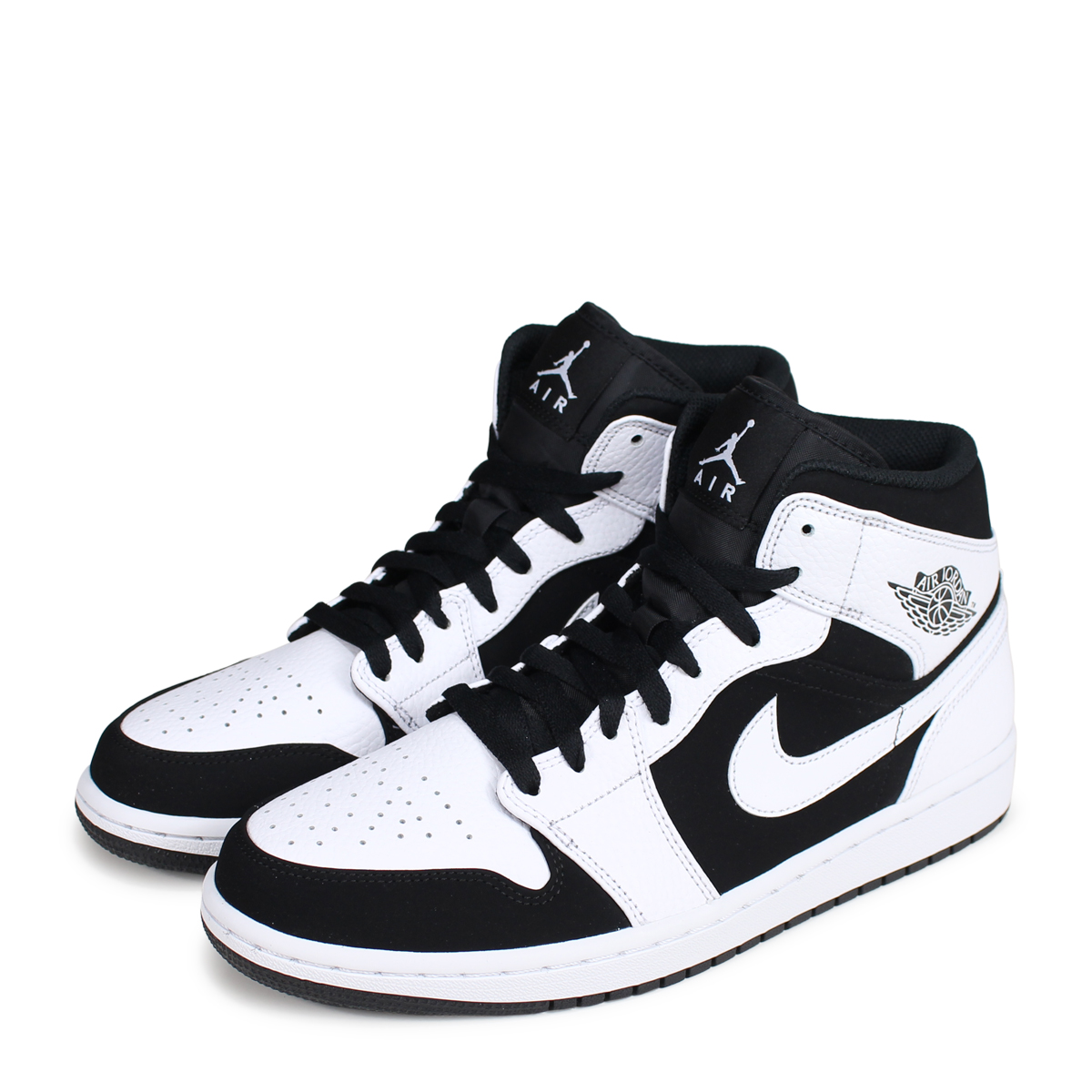 separation shoes 83b0c b03ff Nike NIKE Air Jordan 1 sneakers men AIR JORDAN 1 MID 554,724-113 white  white ...