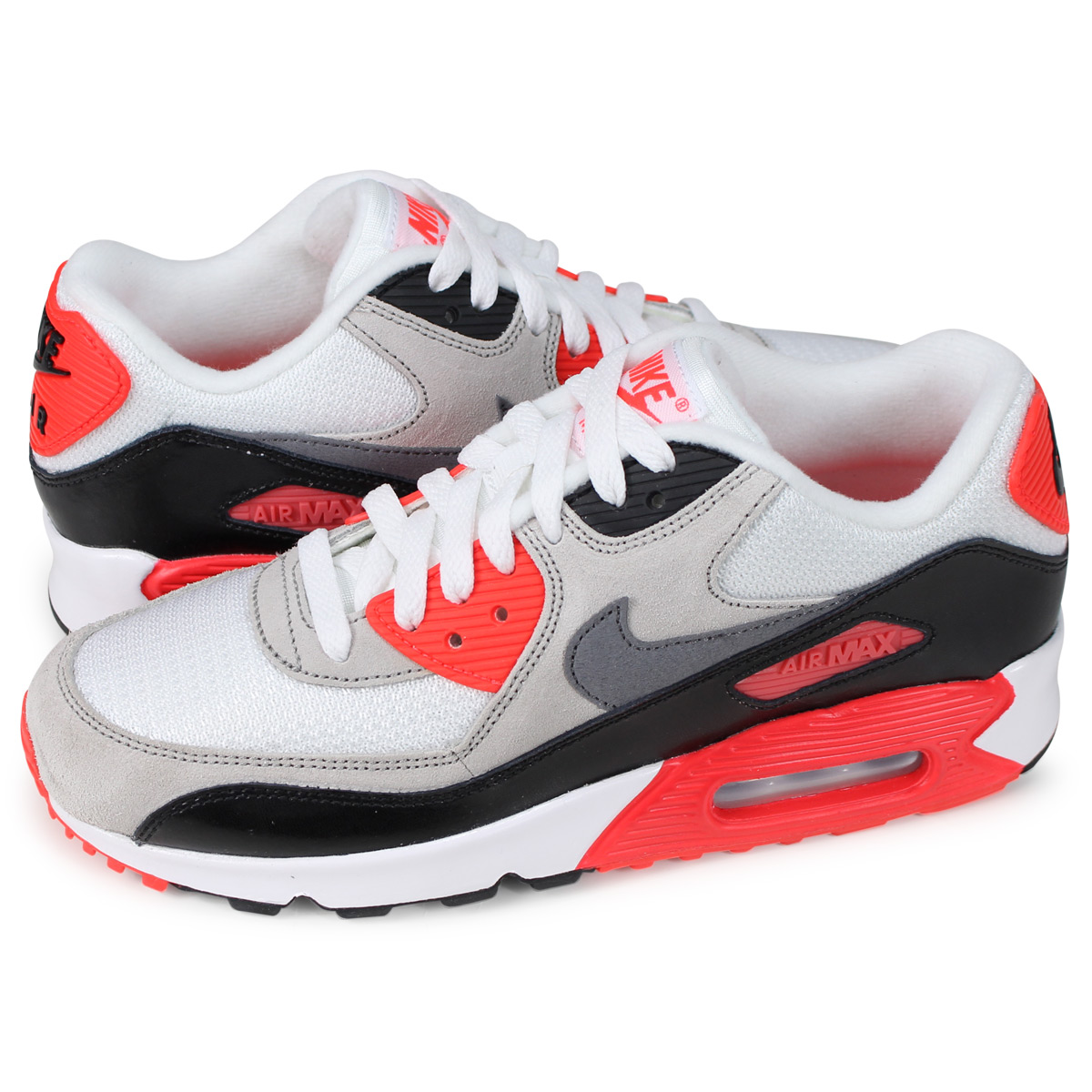 Nike NIKE Air Max 90 Lady's sneakers AIR MAX 90 PREMIUM MESH GS white 724,882 100