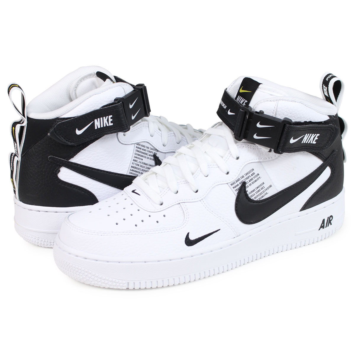 Nike Air Force 1 Mid '07 LV8 WhiteBlack Tour Yellow 804609 103 | Authentic Verification