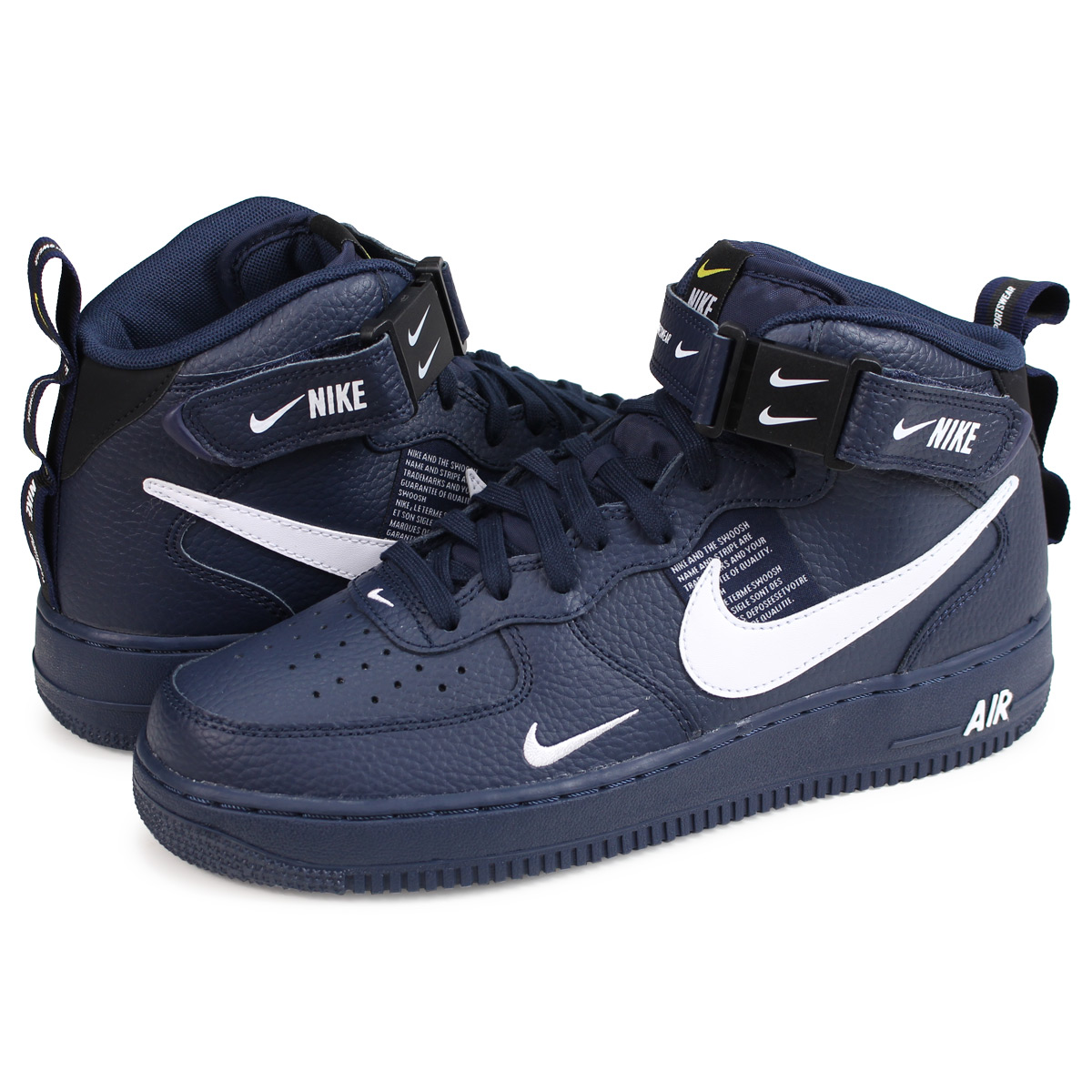 wholesale dealer 8d3af 2bcf8 Nike NIKE air force 1 sneakers men AIR FORCE 1 MID 07 LV8 navy 804,609-403  [load planned Shinnyu load in reservation product 11/19 containing] [1811]