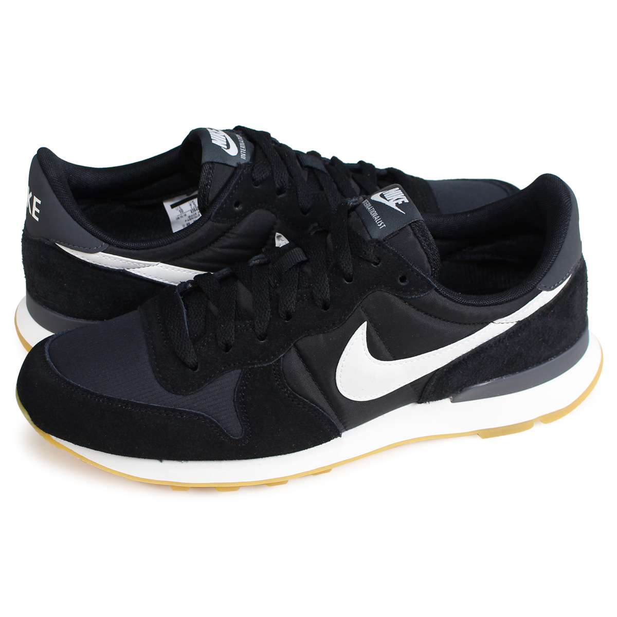 100% genuine fast delivery genuine shoes Nike NIKE internationalist sneakers men WMNS INTERNATIONALIST black  828,407-021 [load planned Shinnyu load in reservation product 2/15  containing] ...