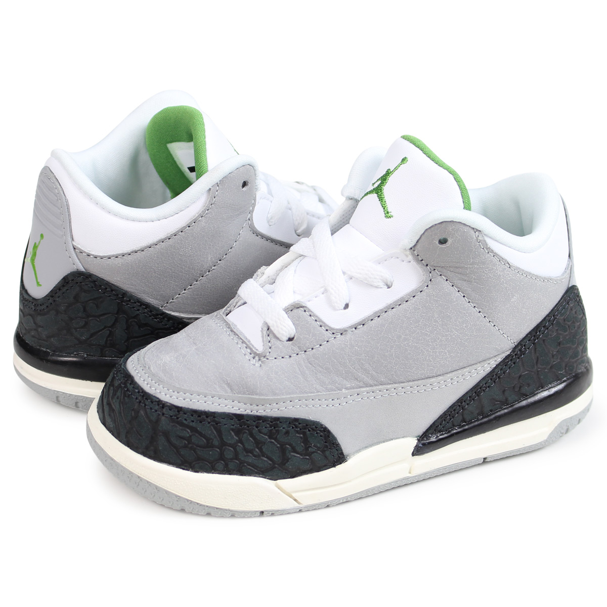 6de1163b3728d5 Nike NIKE Air Jordan 3 nostalgic baby sneakers AIR JORDAN 3 RETRO TD gray  832