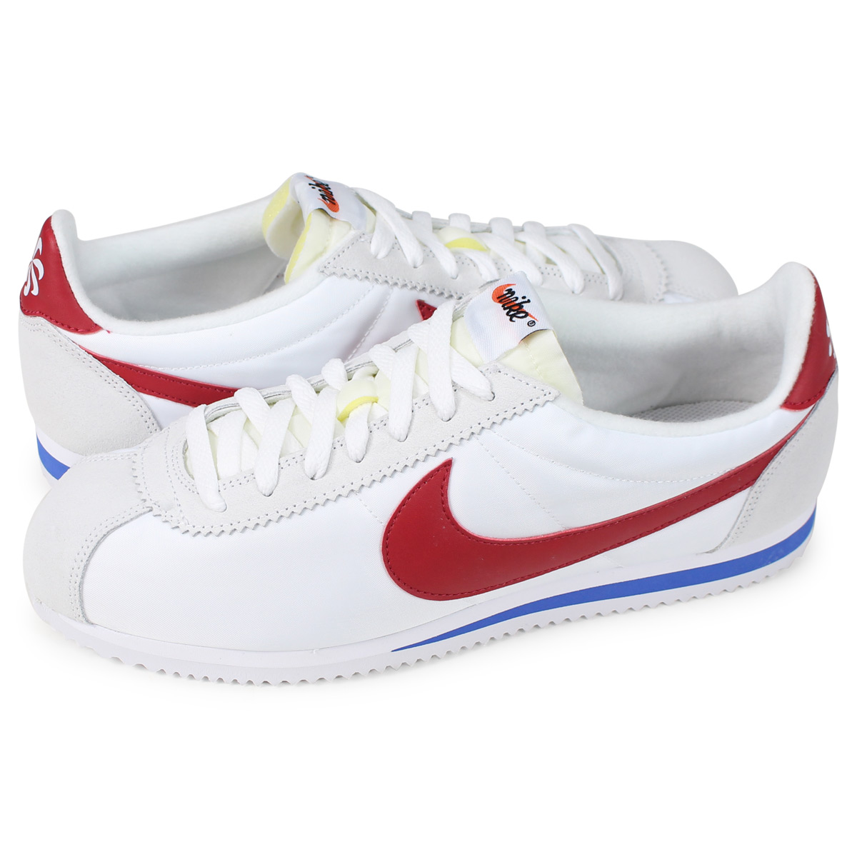 pretty nice e965c de43d Nike NIKE コルテッツクラシックスニーカーメンズ CLASSIC CORTEZ ATHLETICS WEST QS white  847,709-164 [load planned Shinnyu load in reservation product 11/19  containing] ...