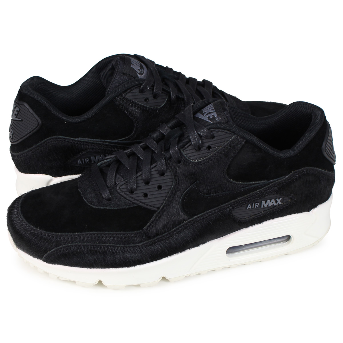 Nike NIKE Air Max 90 sneakers Lady's WMNS AIR MAX 90 LX black 898,512 006 [load planned Shinnyu load in reservation product 1119 containing] [1811]