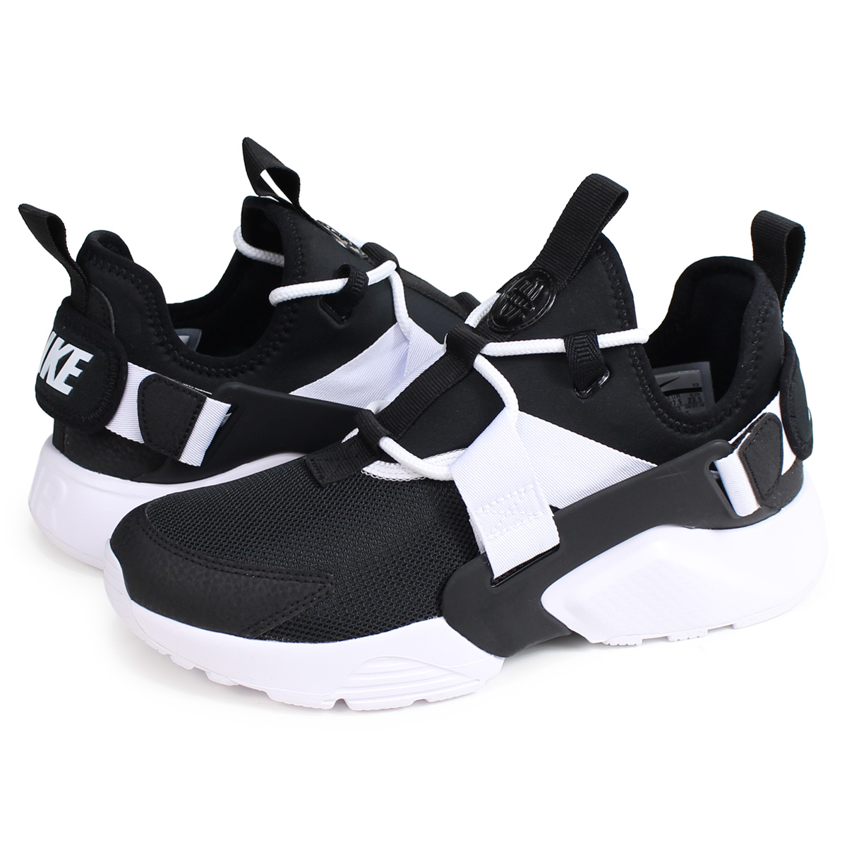 Nike NIKE エアハラチシティスニーカーレディースメンズ WMNS AIR HUARACHE CITY LOW black AH6804-002   load planned Shinnyu load in reservation product 2 14 ... a9b2f41ca