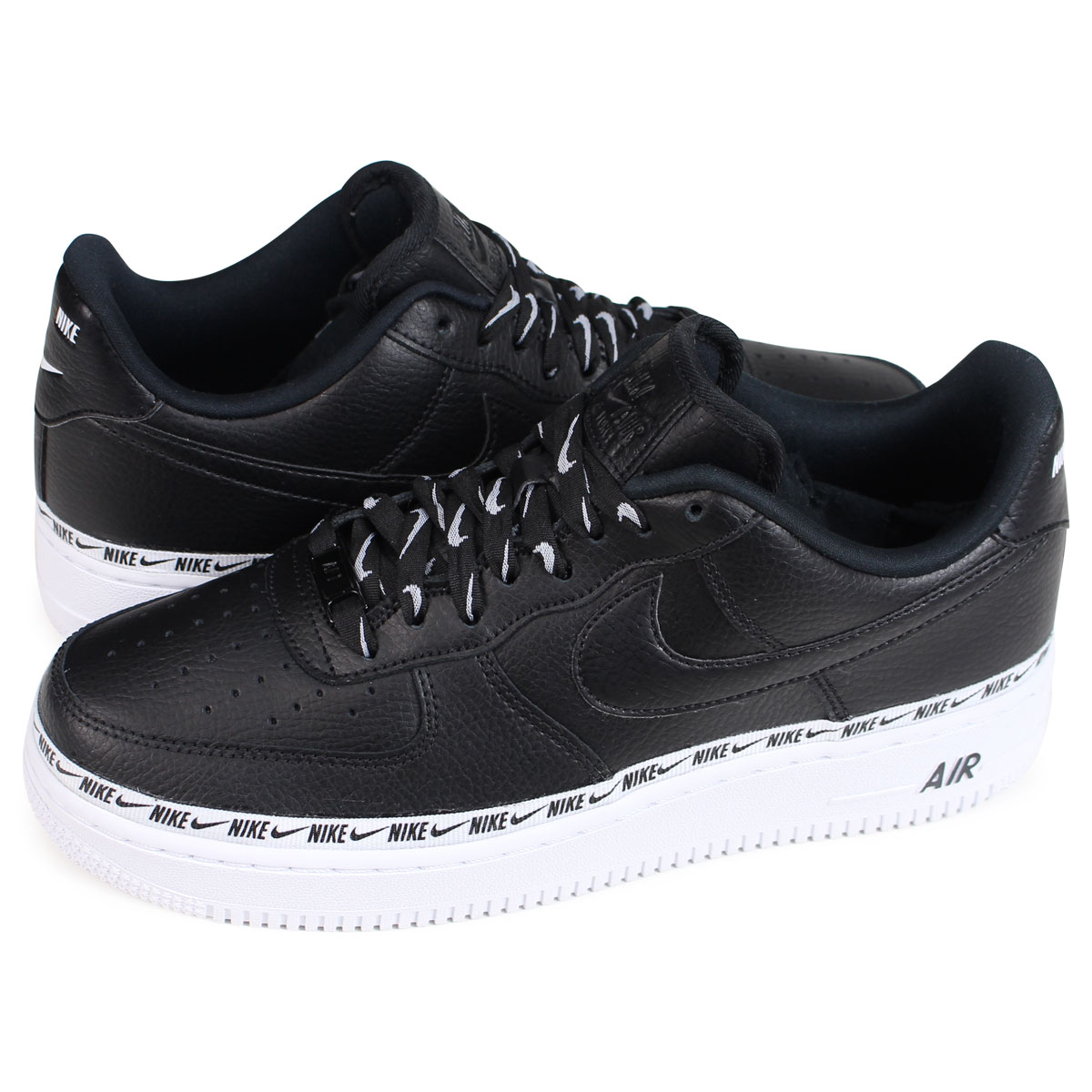 7c715c29af Nike NIKE air force 1 lady's men's sneakers WMNS AIR FORCE 1 07 SE PREMIUM  AH6827-002 black [load planned Shinnyu load in reservation product 11/12 ...
