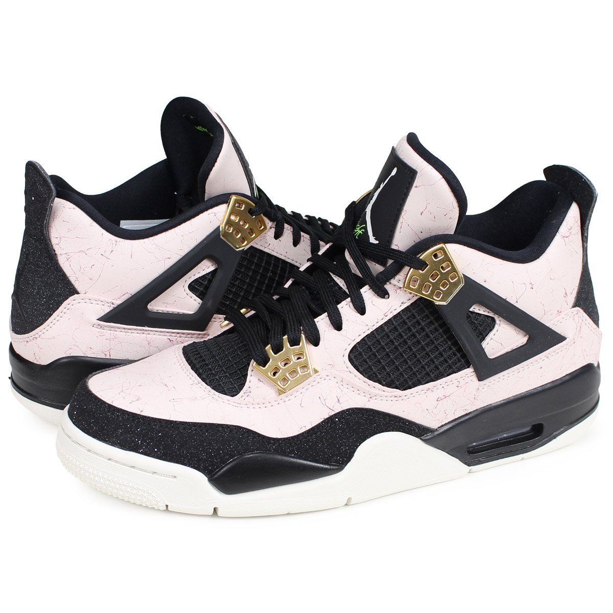 f8d2d954f7f4 Nike NIKE Air Jordan 4 nostalgic sneakers men WMNS AIR JORDAN 4 RETRO pink  AQ9129-601  2 25 Shinnyu load   192