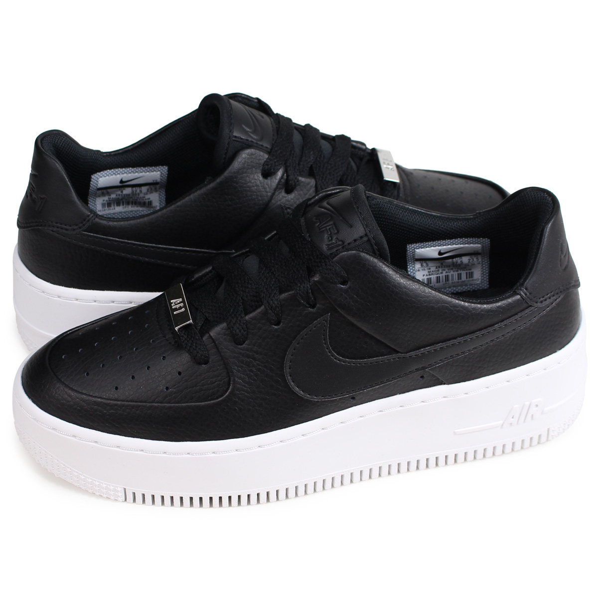 uk availability 678bb f946f Nike NIKE air force 1 sneakers Lady's WMNS AIR FORCE 1 SAGE LOW AF1 black  AR5339-002 [195]