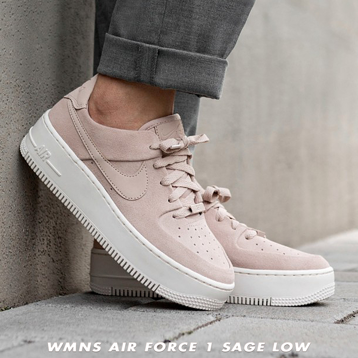 buy popular 42bc7 d456f Nike NIKE air force 1 sneakers Lady's WMNS AIR FORCE 1 SAGE LOW AF1 beige  AR5339-201 [load planned Shinnyu load in reservation product 2/14 ...
