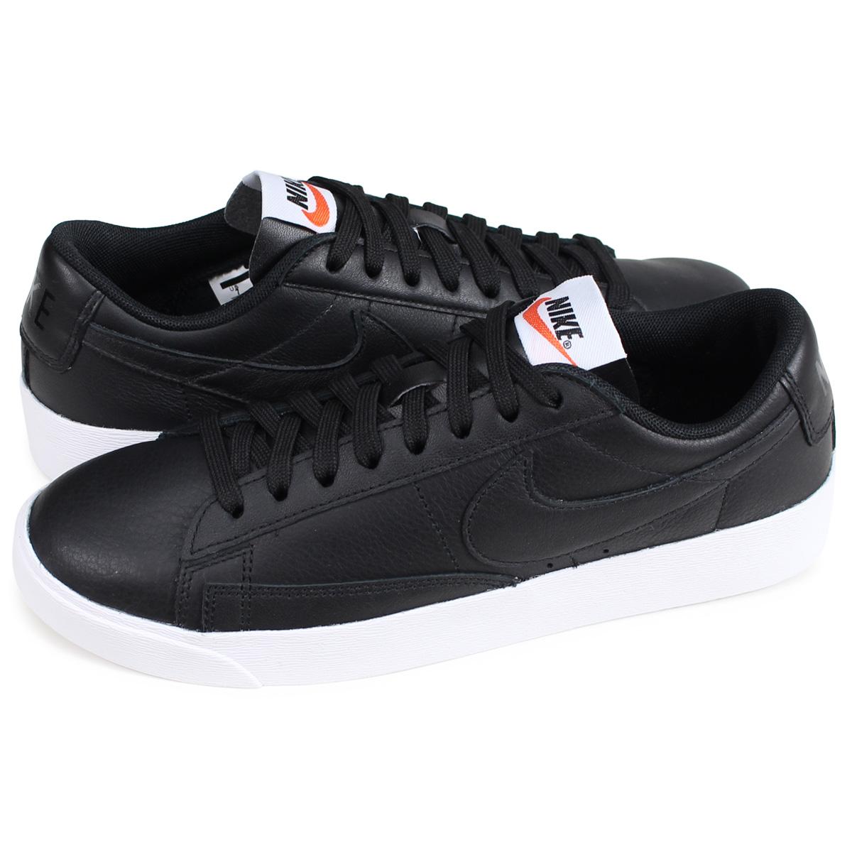 online store 3165f d9ea0 Nike NIKE blazer low sneakers Lady's WMNS BLAZER LOW LEATHER black  AQ1777-001 [192]