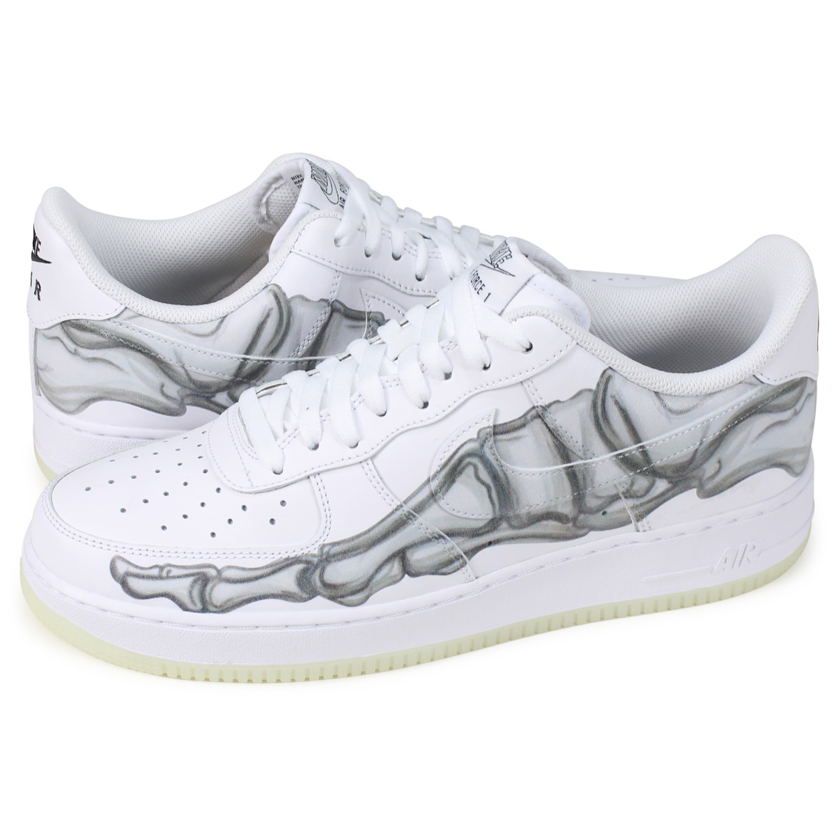 Nike NIKE air force 1 sneakers men AIR FORCE 1 SKELETON QS white BQ7541 100 [1811]