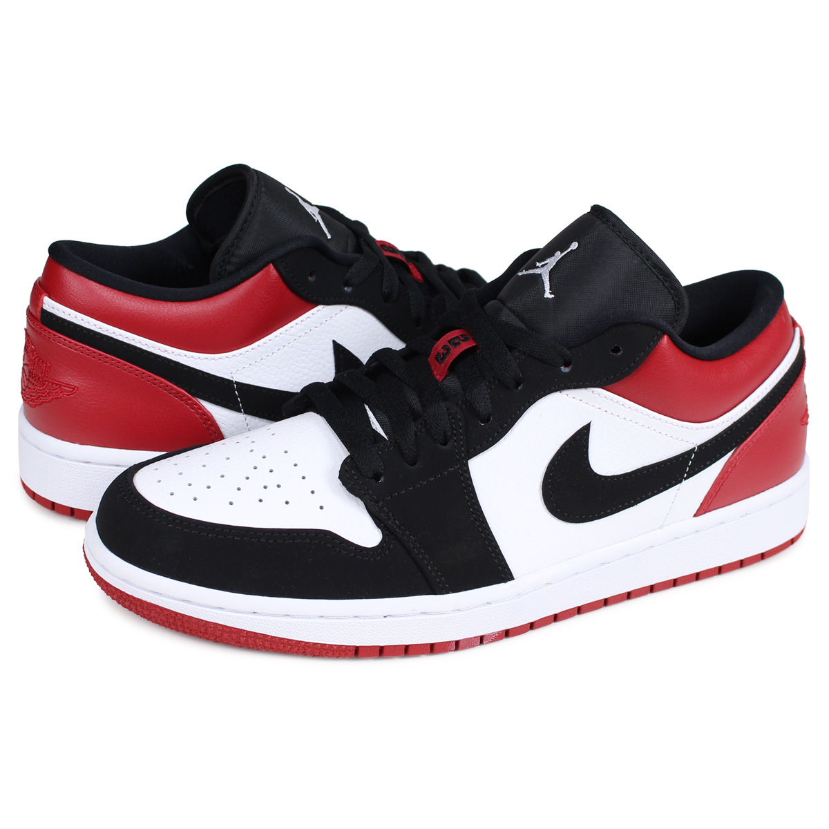 to buy new lifestyle differently Nike NIKE Air Jordan 1 nostalgic sneakers men AIR JORDAN 1 LOW BLACK TOE つま  black white white 553,558-116 [the 11/20 additional arrival]