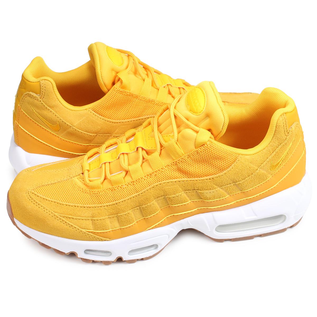 Nike NIKE Air Max 95 sneakers Lady's men WMNS AIR MAX 95 PREMIUM yellow 807,443 701 [196]