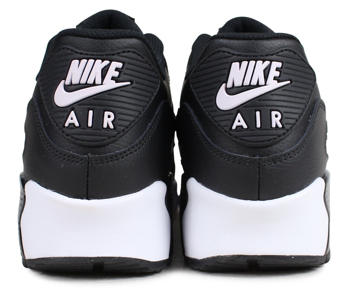 Nike NIKE Air Max 90 sneakers Lady's AIR MAX 90 LEATHER GS black black 833,412 025 [195]