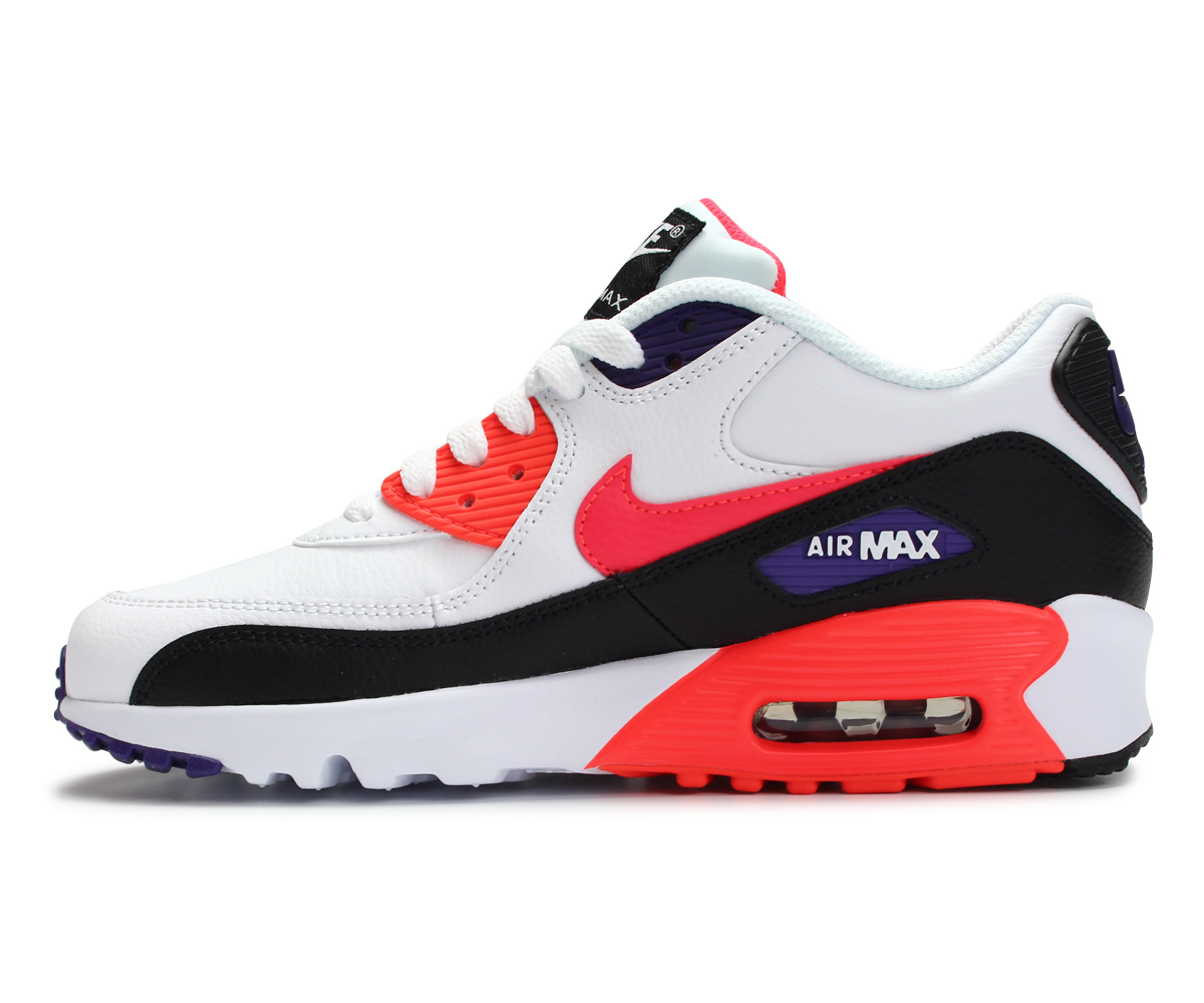 Nike NIKE Air Max 90 sneakers Lady's AIR MAX 90 LEATHER GS white white 833,412 117